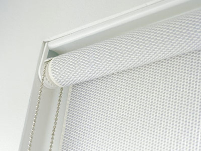 Cortina Enrollable Fina De Hilados Papel Roller Blind With Chain By Woodnotes