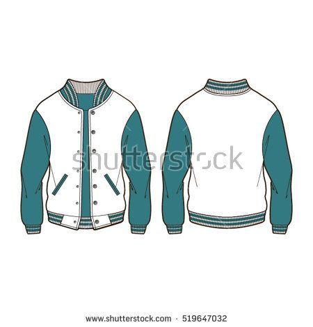 Classic Sport Varsity Jacket Template Case Study Pinterest