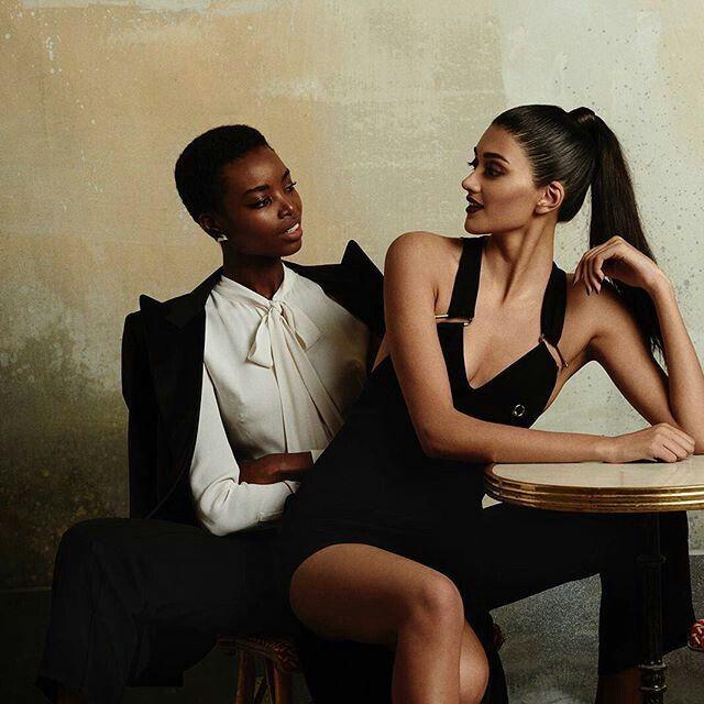 Femme lesbienne noire