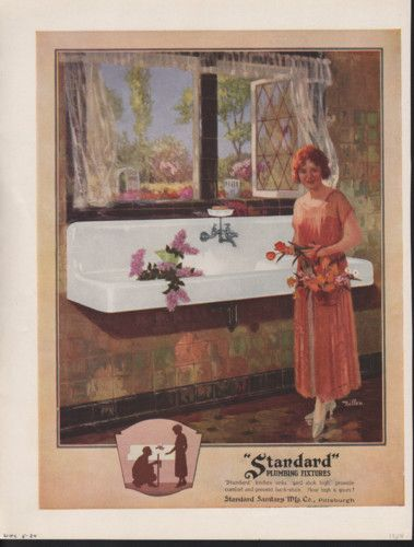 1924 STANDARD PLUMBING FIXTURES DILLON KITCHEN SINK AD for sale on ...
