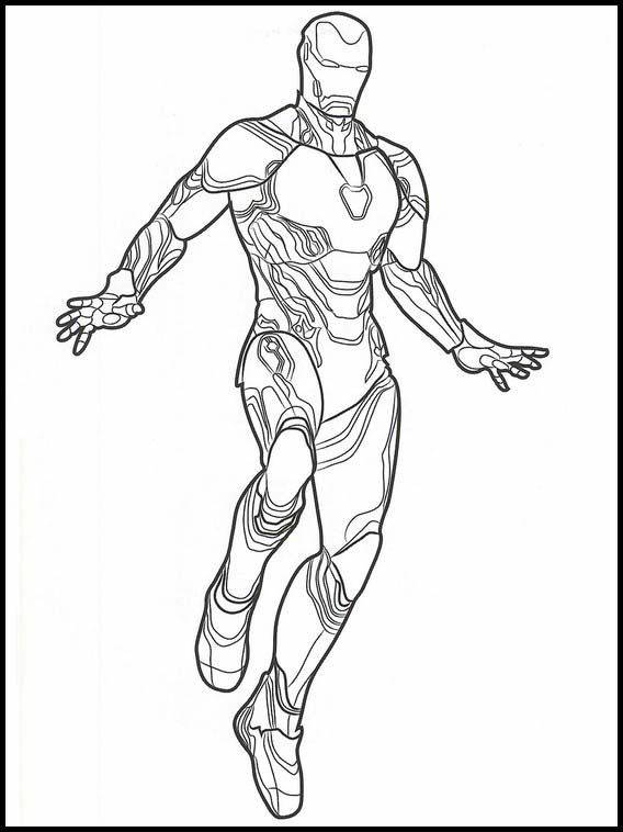 Avengers: Endgame Coloring Pages 1 | Рисовать и Как рисовать