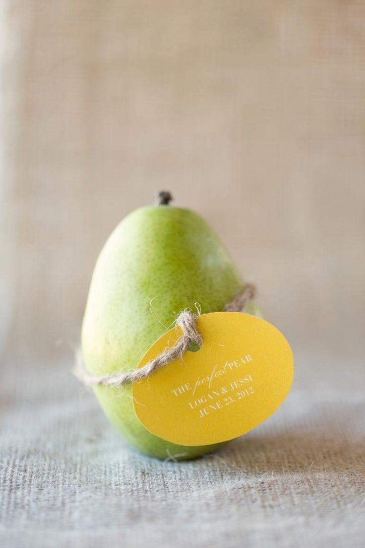 Perfect Pear Wedding Favours Dj Pinterest Favors Weddings