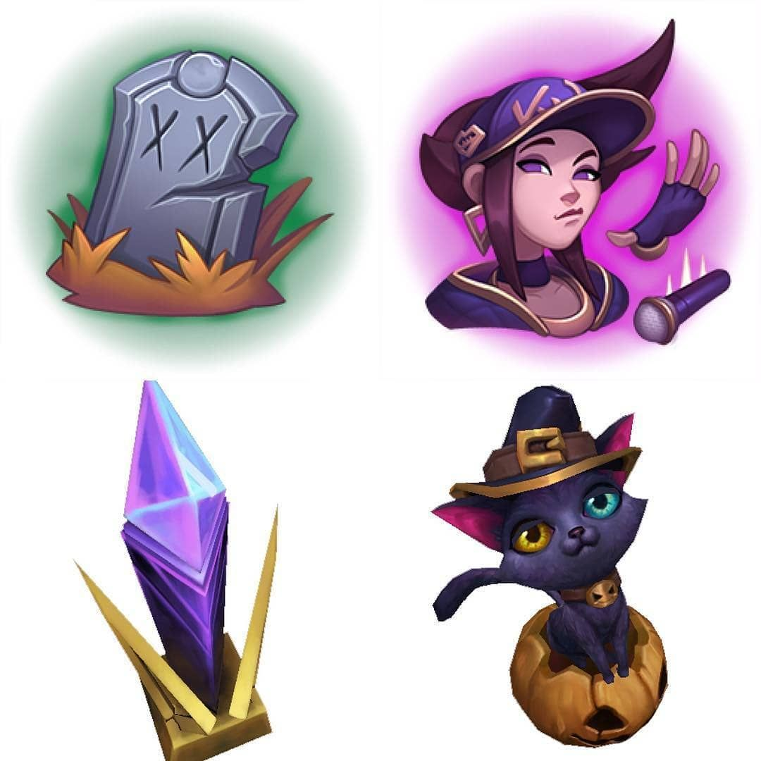 League Of Legends Halloween Emote 2020 Halloween and K/DA emotes and wards ♡    | Ward, League of