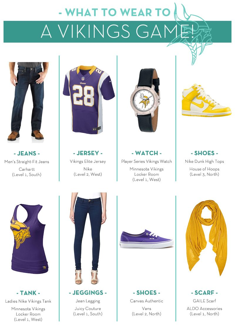 Courtesy of Mall of America! What to Wear: MN #Vikings game!