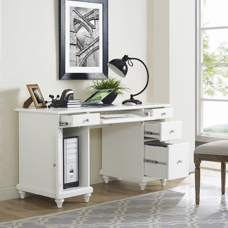 Default Name White Computer Desk Cheap Office Furniture Desk With Drawers