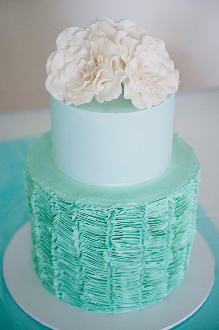 Casamento turquesa barato idéias econômicas wedding cake cake