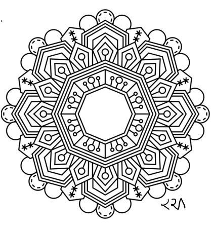 Intricate Mandala Coloring Pages Flower Henna Coloring Book Kids Doodle Handmade
