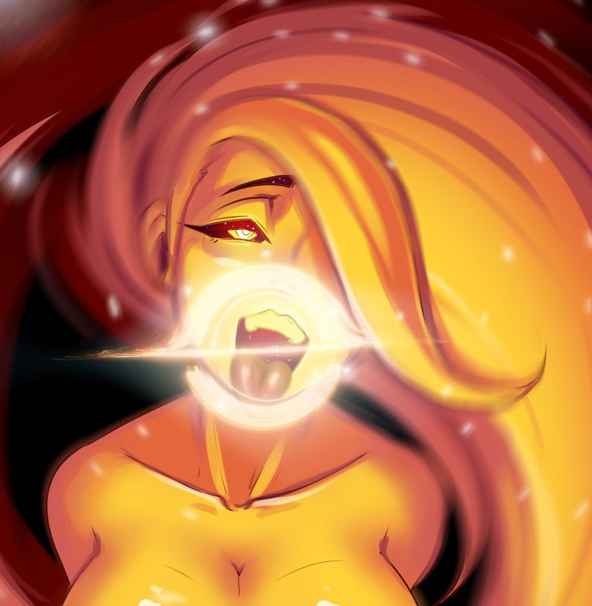 Black hole chan black hole anime funny dark fantasy art