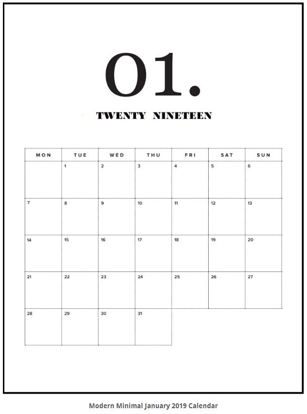 picture relating to Printable Calendars for referred to as No cost Printable 2019 Calendars!! No cost Printables Totally free