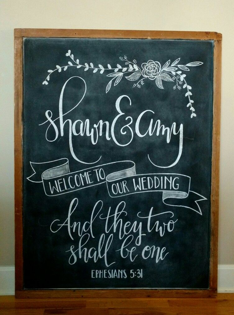 Welcome To Our Wedding Chalkboard Wedding Chalkboard
