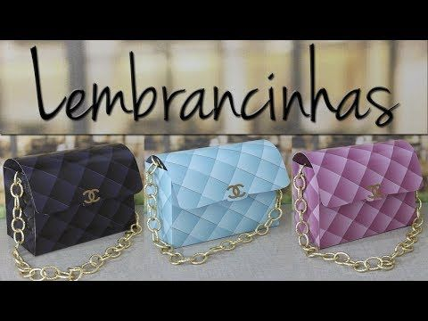 8aefa3310 DIY LEMBRANCINHAS BOLSA CHANEL - YouTube | papéis