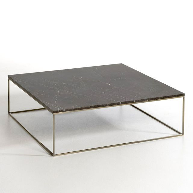 table basse effet laiton vieilli marbre mahaut marbre noir table basse et plateau. Black Bedroom Furniture Sets. Home Design Ideas