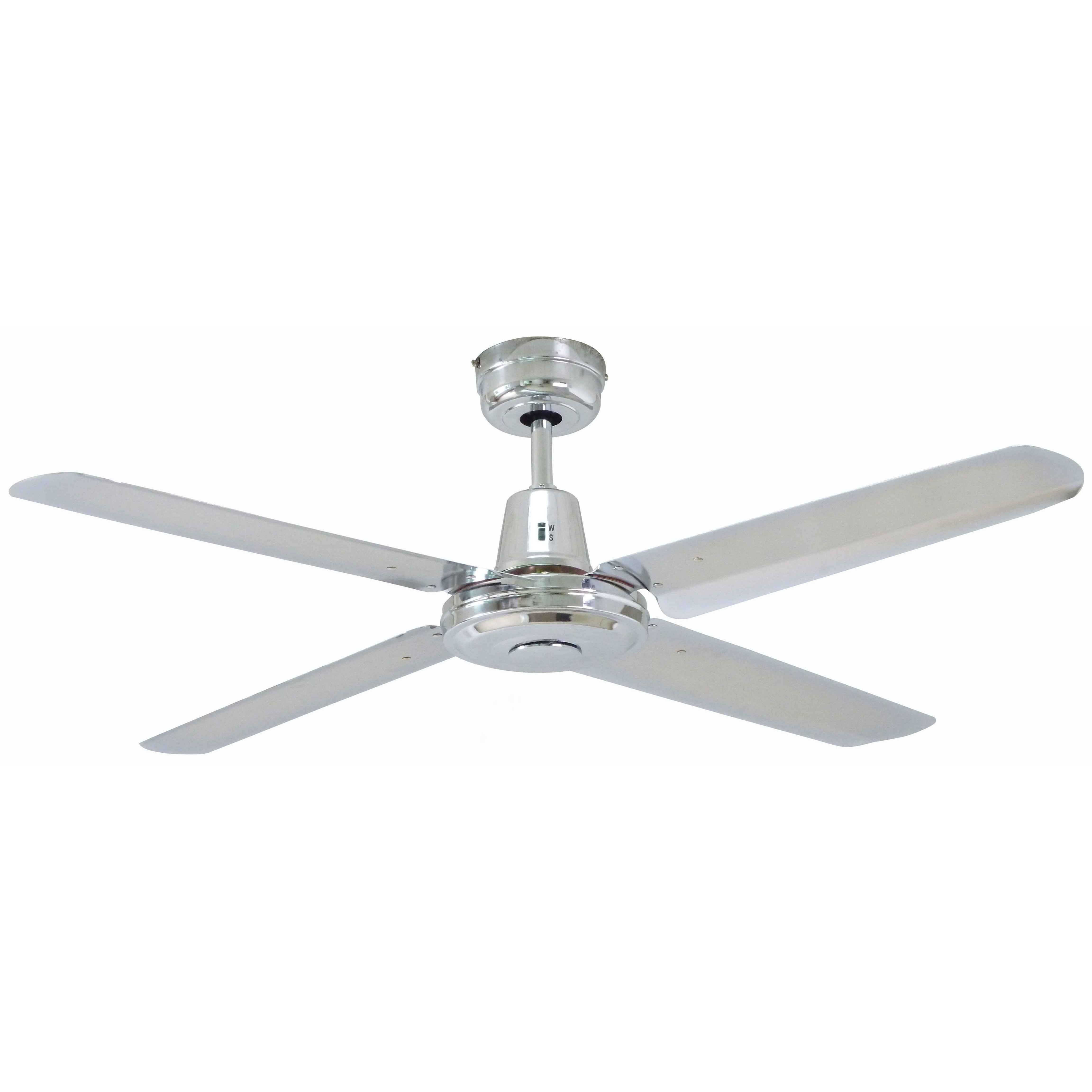 Buy Mercator Swift 48 Brushed Chrome Metal Blades Ac Ceiling Fan Ceiling Fan Metal Ceiling Fan