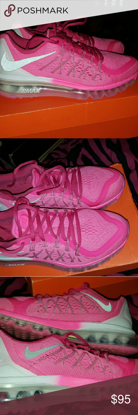 Pink Air Max! I only wore these shoes about four times & only for a few hours!  Basically new. They just came out this past winter. Nike Shoes Sneakers