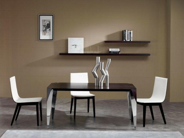 Wanddesign Wandgestaltung Wandfarbe Farbgestaltung Wohnzimmer Wese Stühle