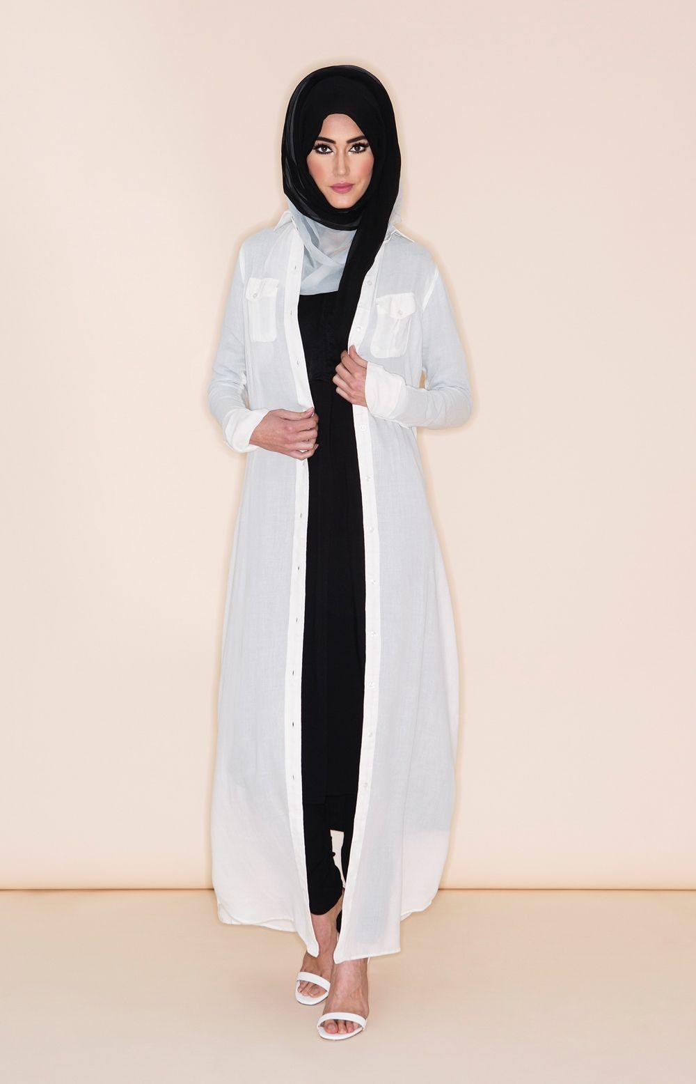 Long Shirt White Hijab New Light Hijab Fashion Dresses Hijab