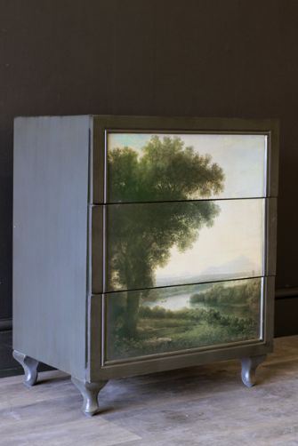 I want: Hand Painted Landscape Chest of Drawers by Young & Battaglia