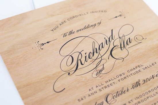 1000 images about Invitations – Wood Invitations Wedding