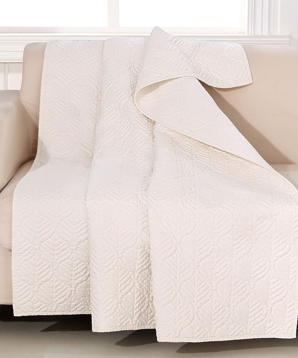 Piper Ivory Quilted Throw