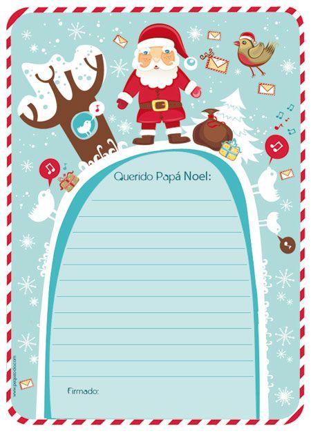 Carta a Pap Noel para imprimir  Navidad Xmas and Christmas time