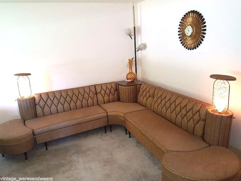Vtg. Newport Chesterfield Sectional MCM Mid Century Luxury ...