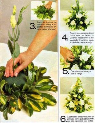 Como Fazer Arranjo Floral Simples Com Imagens Arranjos De