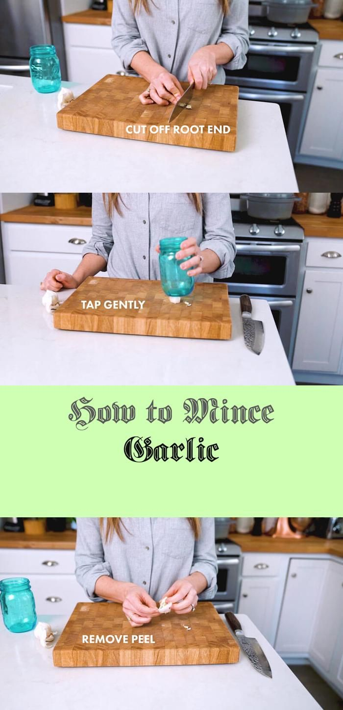 The way to Mince Garlic -