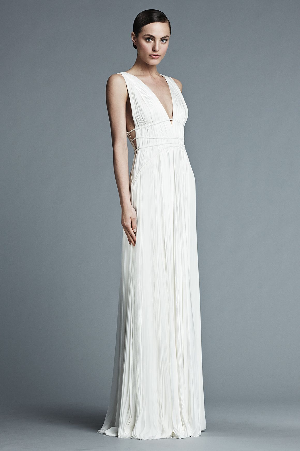 J.MENDEL Paris Bridal 2015 | GISELLE - Sleeveless Pleated Gown with ...