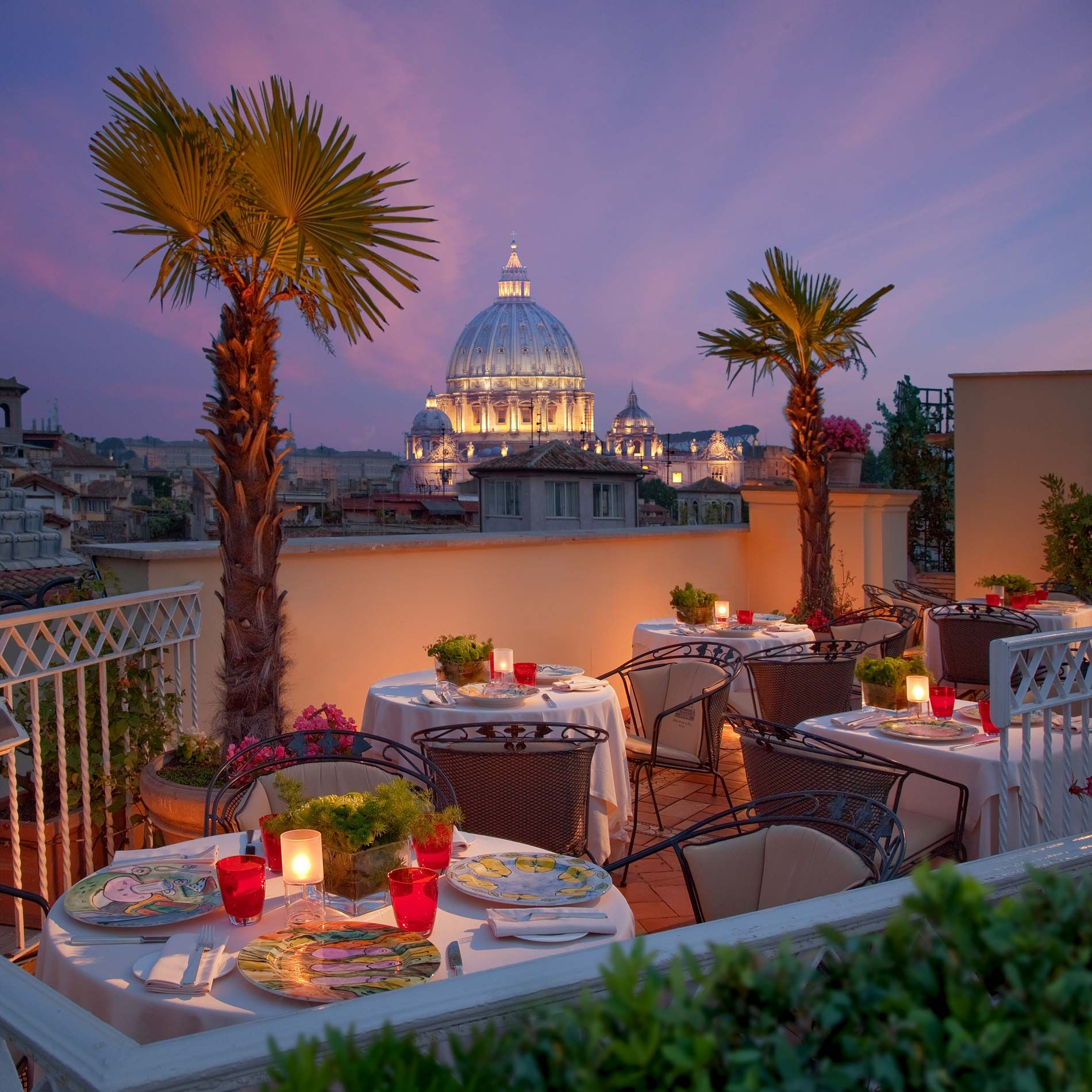 Roof Garden Near The Vatican To Enjoy Fresh Cakes And Pastries For Your Daily Breakfast Hotel Waldorf Rome Club House House Hotel