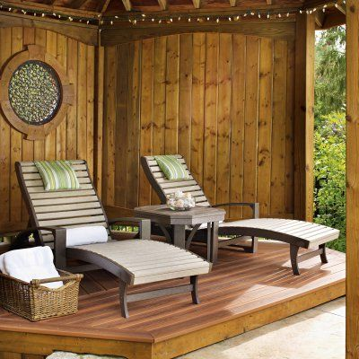 Outdoor Cr Plastic St Tropez Chaise Lounge With Wheels