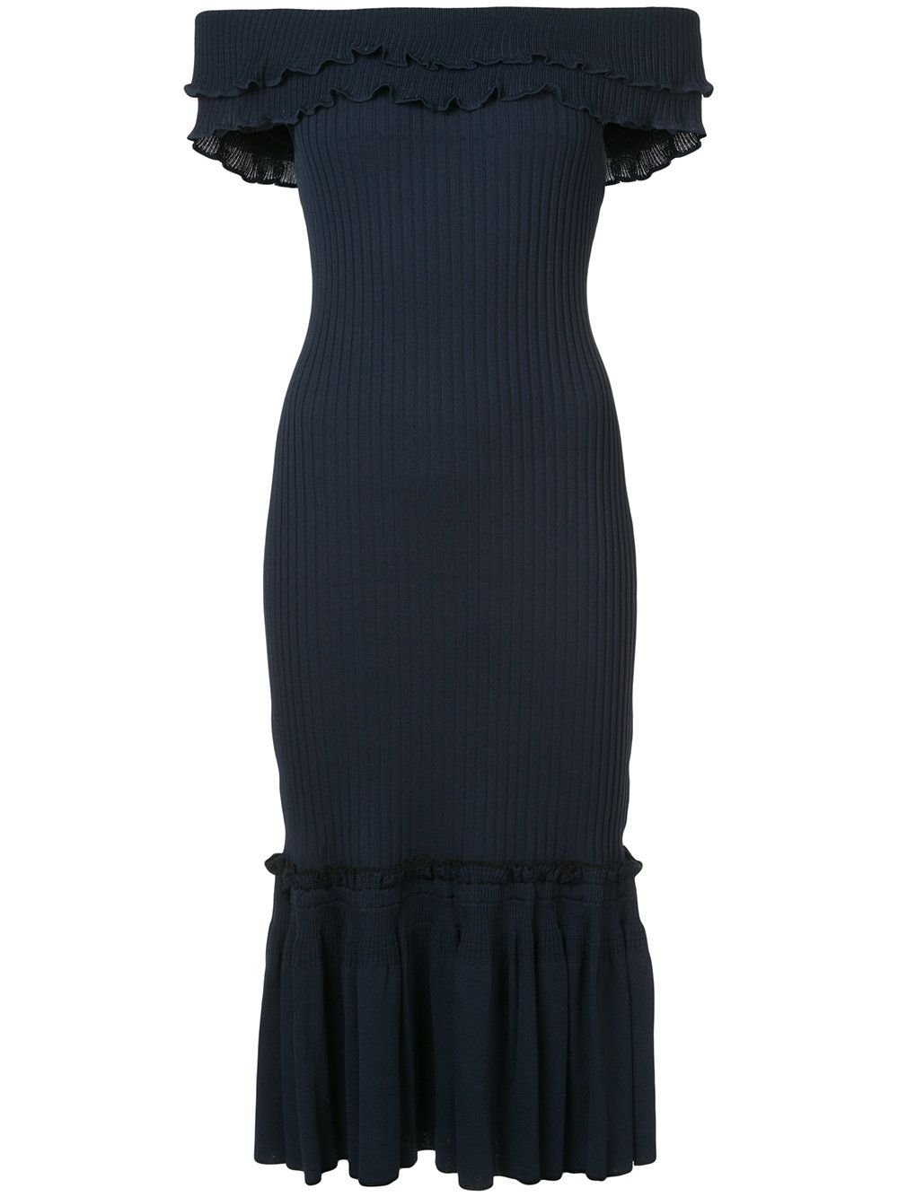 Off-the-shoulder ribbed dress Jonathan Simkhai CPSovBhp5o