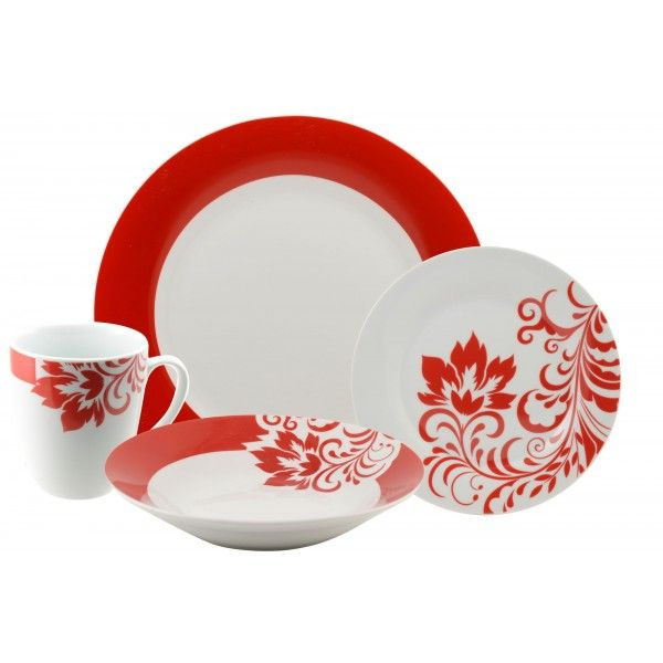 VALENTINA 16 PC ROUND DINNERWARE SET These decorated boxed sets transform the basics into the  sc 1 st  Pinterest & VALENTINA 16 PC ROUND DINNERWARE SET: These decorated boxed sets ...