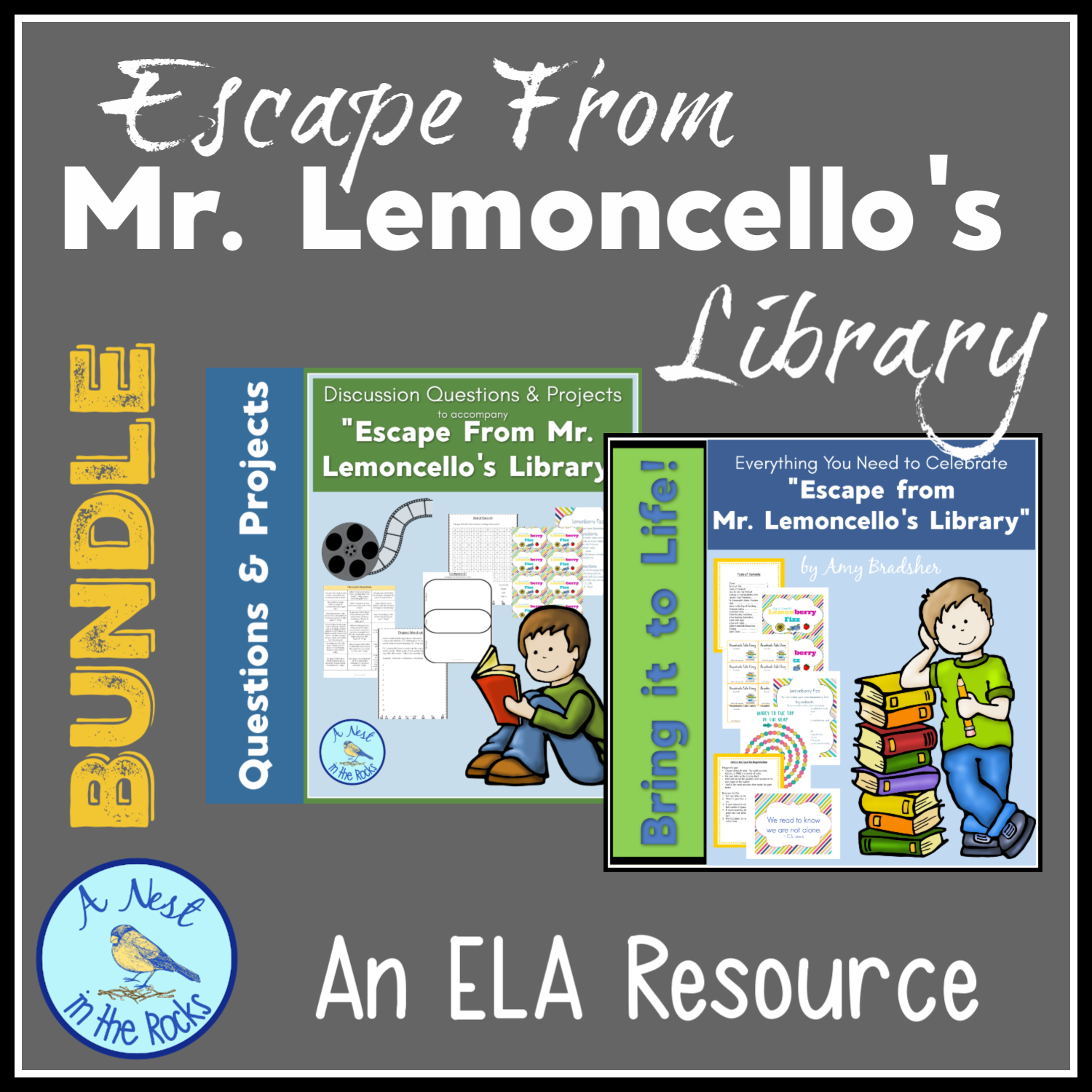 Escape From Mr Lemoncello S Library Movie Amp Party Pack