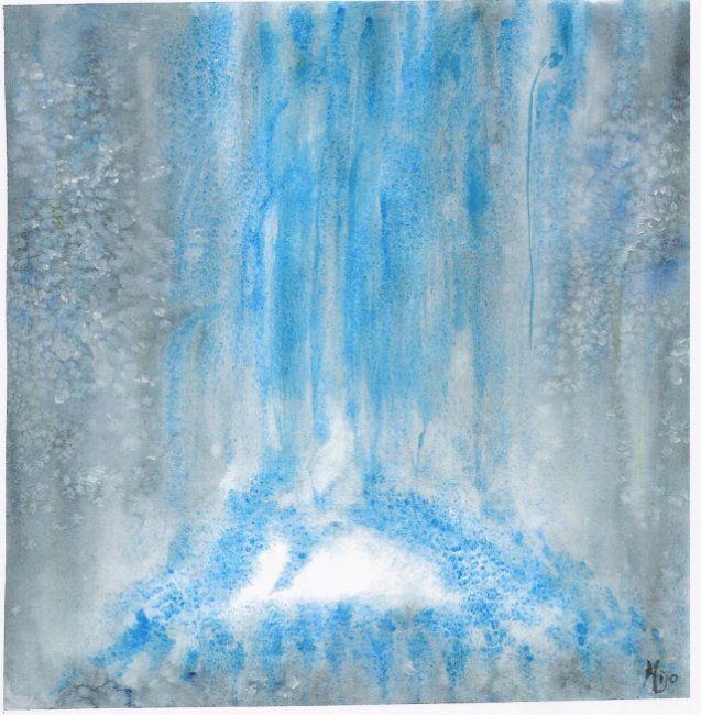 oxygene (Painting),  30x30 cm par Mijo Chambon aquarelle et touches d'acrylique
