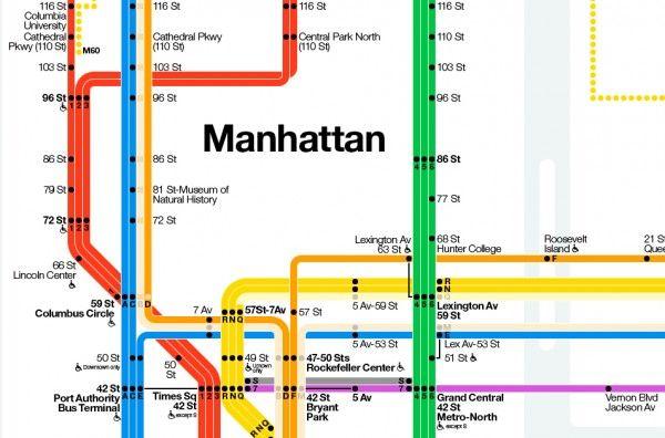 Nyc Subway Map A C E.The New York Mta And Graphic Designer Massimo Vignelli Reinvent A