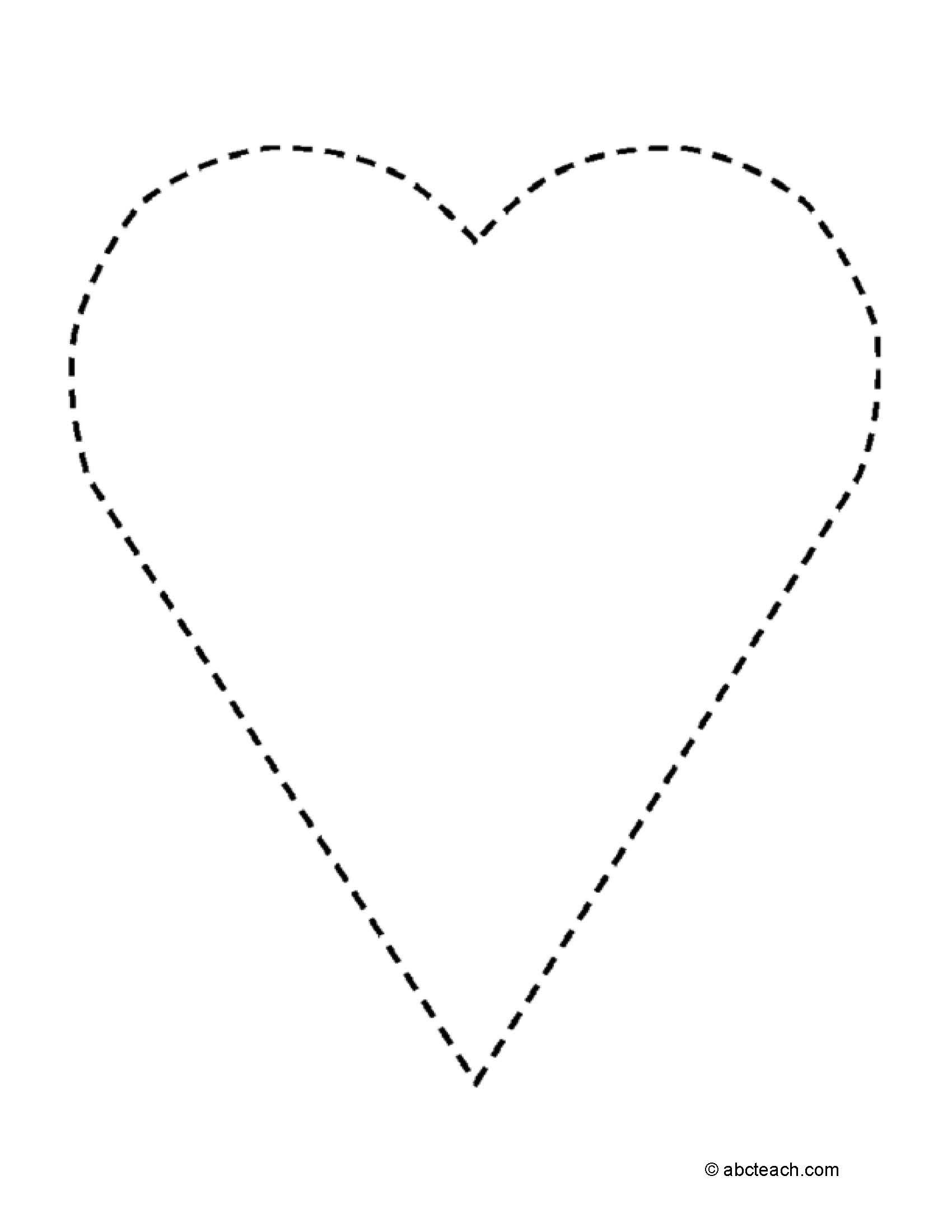 Tracing Hearts Shape Worksheet