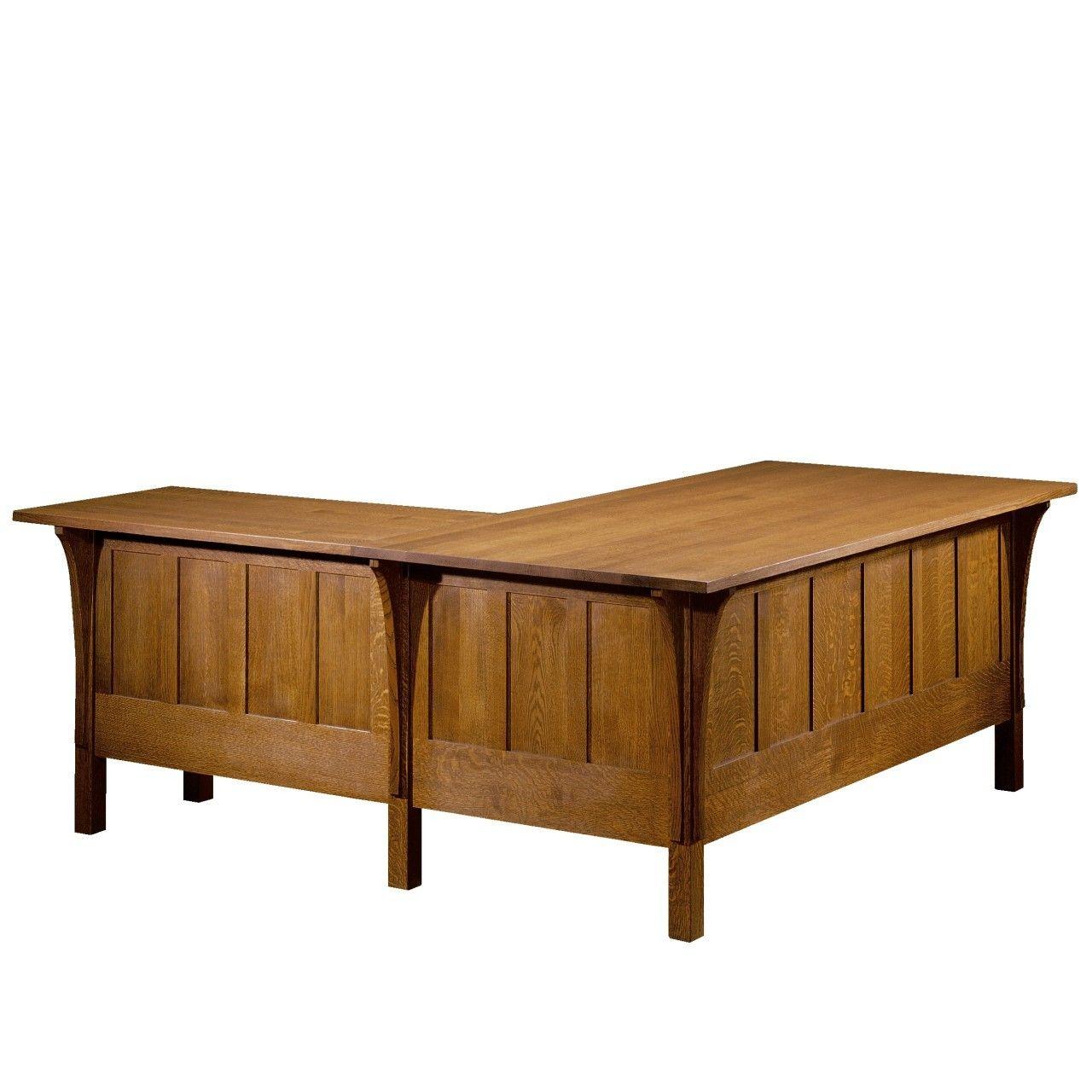 Mission Desk with Return - Chicago Furniture | Toms-Price Furniture ...