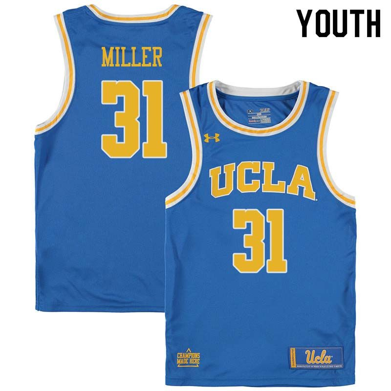 Youth  31 Reggie Miller UCLA Bruins College Basketball Jerseys Sale-Blue c5c966aa6