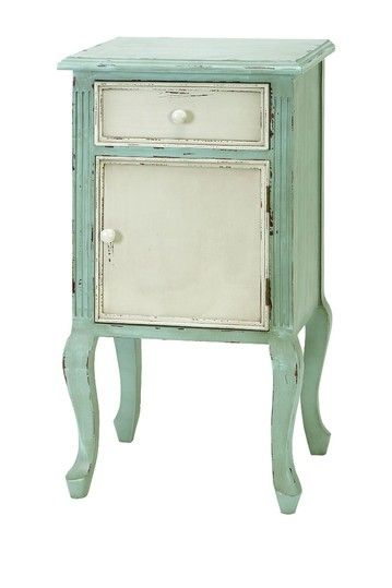 Light Blue Wood Two Tone Shabby Chic End Table By UMA Enterprises Inc. On @ HauteLook   Giving Me Ideas For Re Finishing The Table I Have.