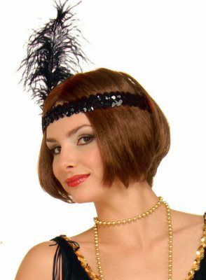 9bbcd9c765154 Sequin Flapper Headband with Feather - 20 s Flapper Costumes