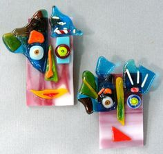Fused Glass Brooches - Custom Order | by eccentricityglass