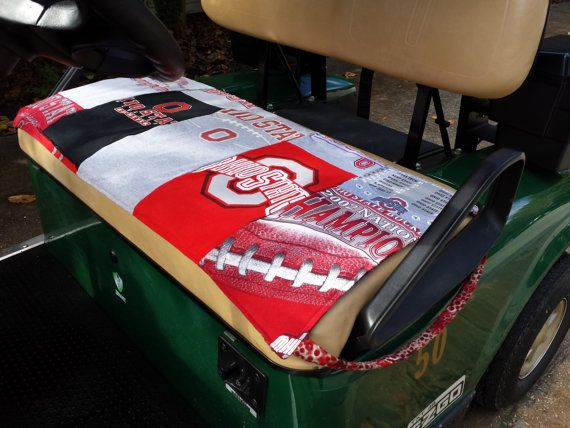 Ohio State Osu Golf Cart Seat Cover Made By Conniesuescreations 35 00 Golf Cart Seat Covers Golf Cart Seats Golf Cart Covers