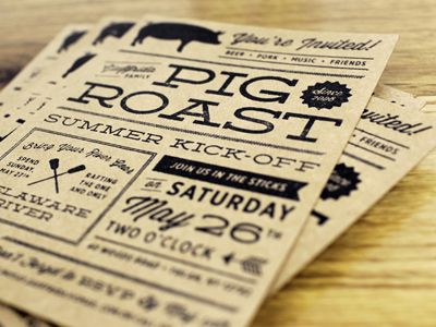 Cheers and Beers Invitation Pig Roast BBQ Invite by RavenzDen ...