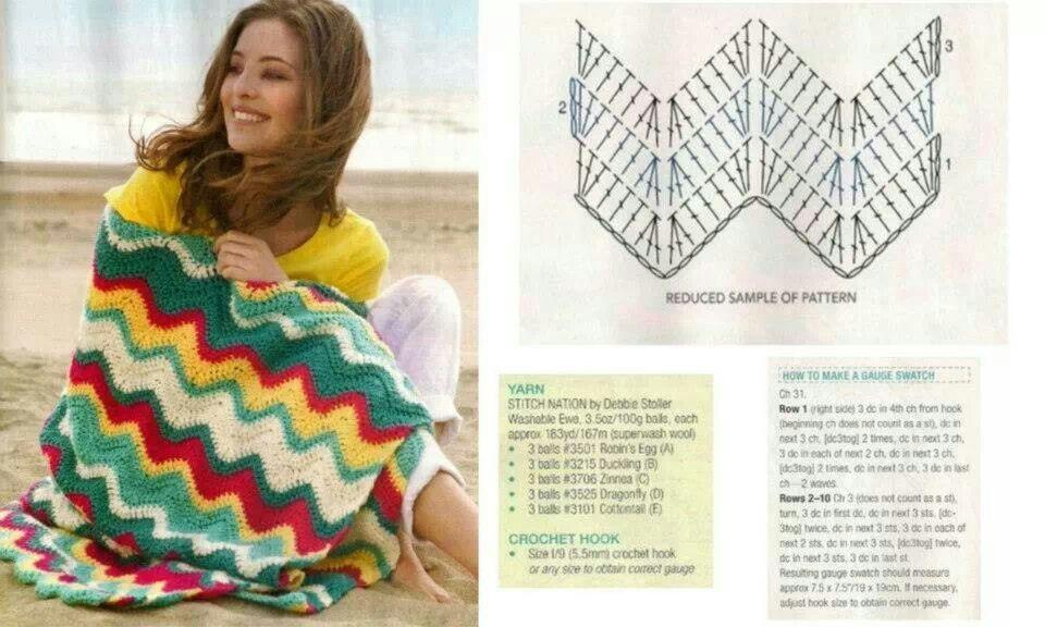 Pattern crochet | crochet blanket _ كروشية بطانية | Pinterest ...