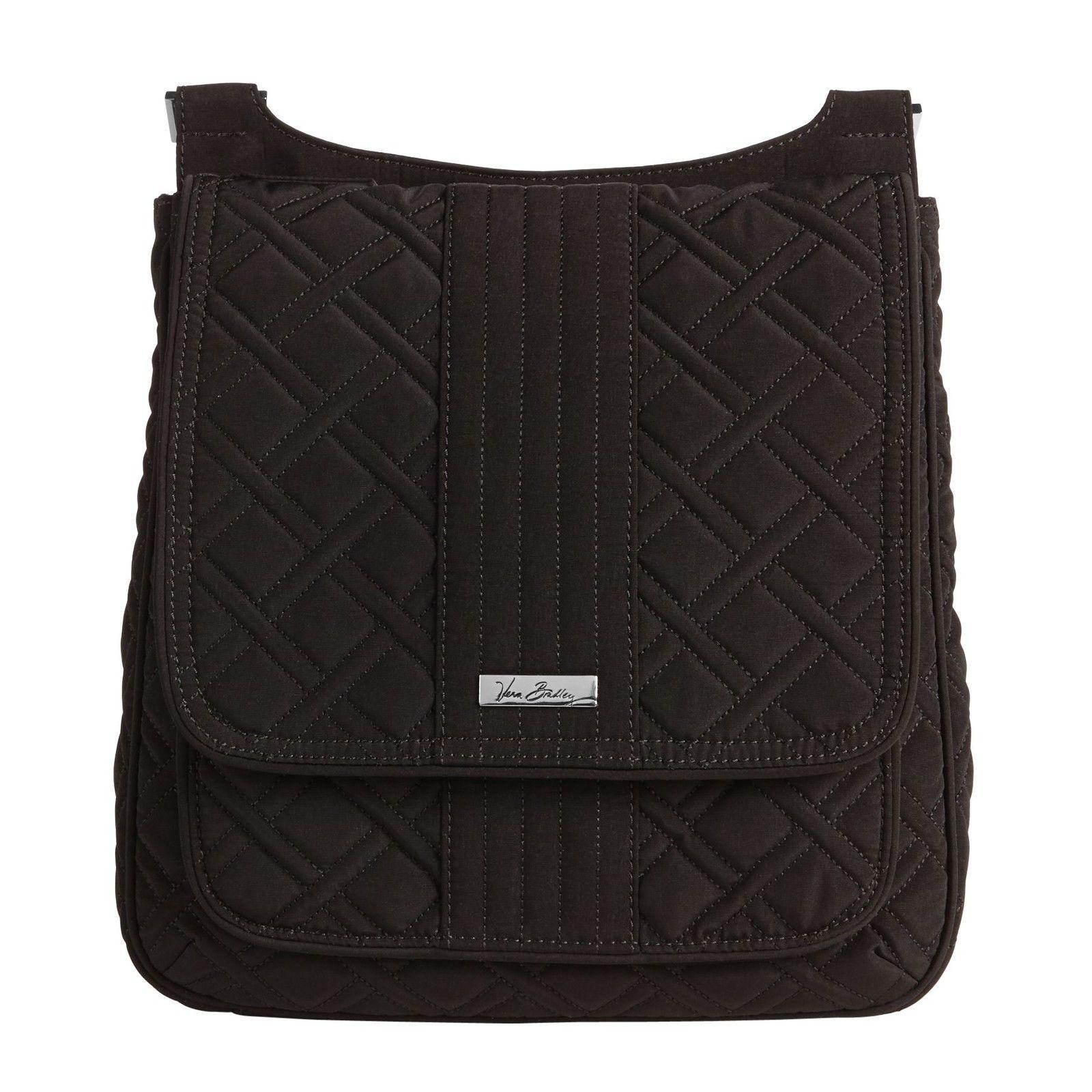 Vera Bradley Microfiber Mailbag Crossbody Bag in Classic Black ... e2657f0d7591d