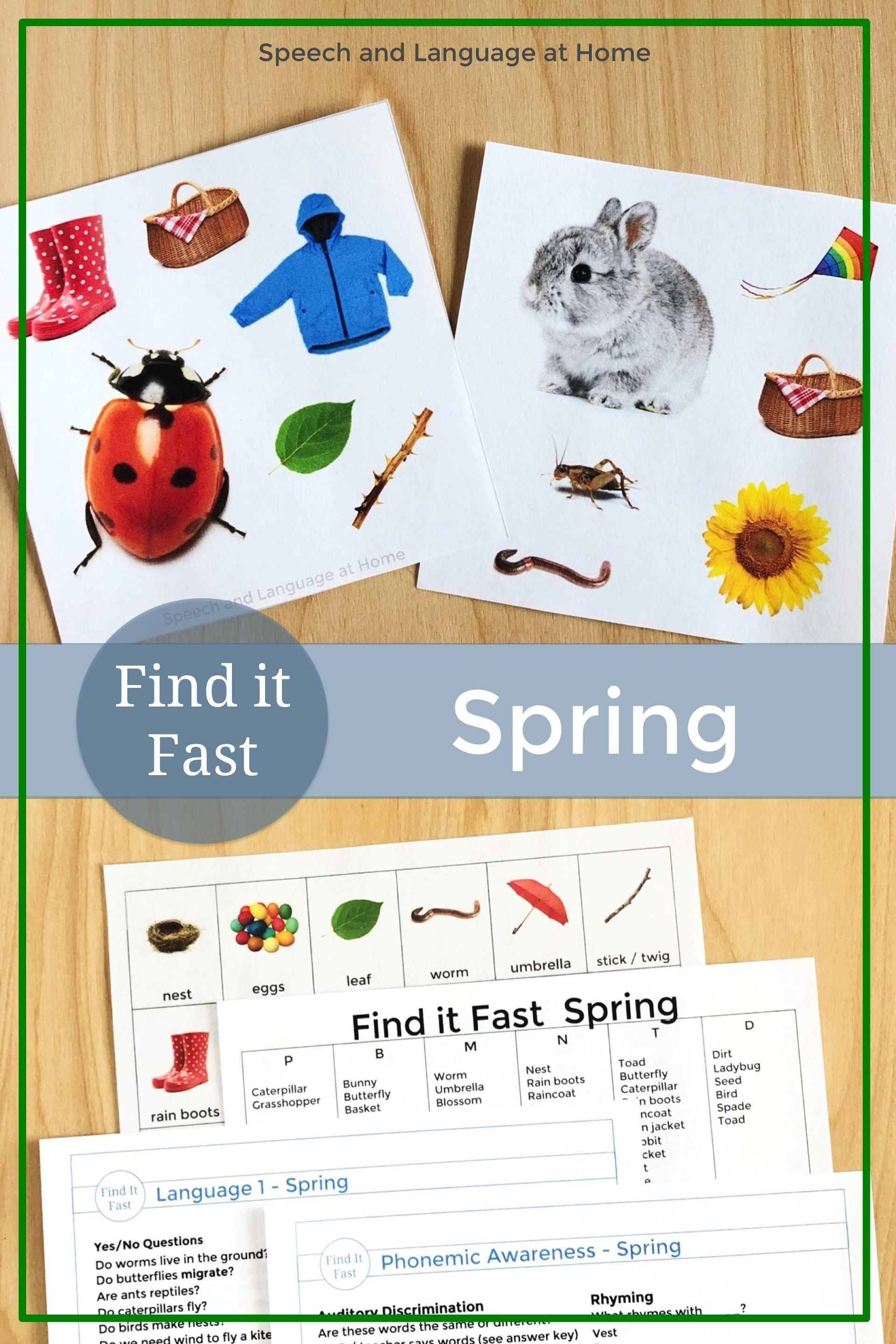 Speech Therapy Spring Activities