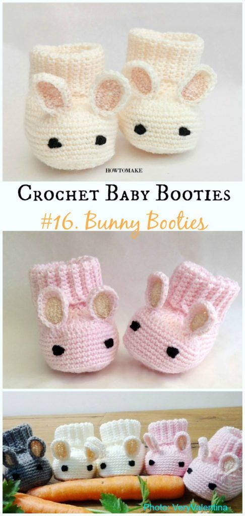 Baby Booties Free Crochet Patterns -   20 knitting and crochet baby booties ideas