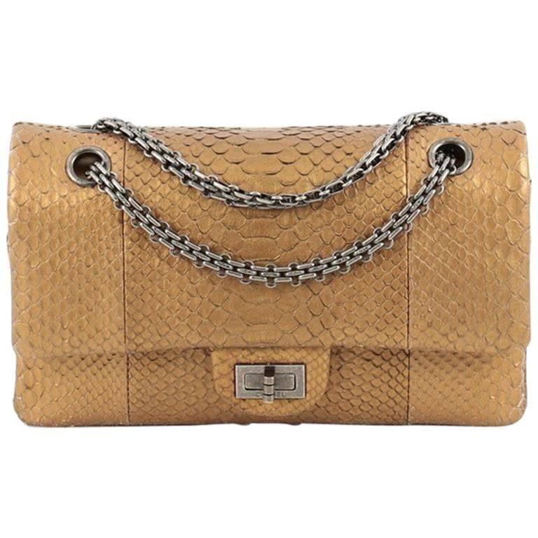117feafaf06a Chanel Reissue 2.55 Handbag Python 225