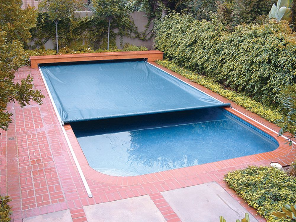 on deck track automatic swimming pool safety covers landscape ideas and landscape protection