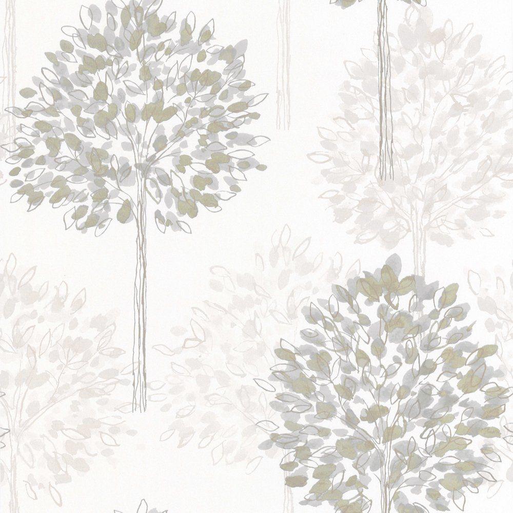 Arthouse Boulevard Tree Wallpaper Neutral Cream Beige Casa
